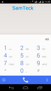 Dialler in Moto Smartphone