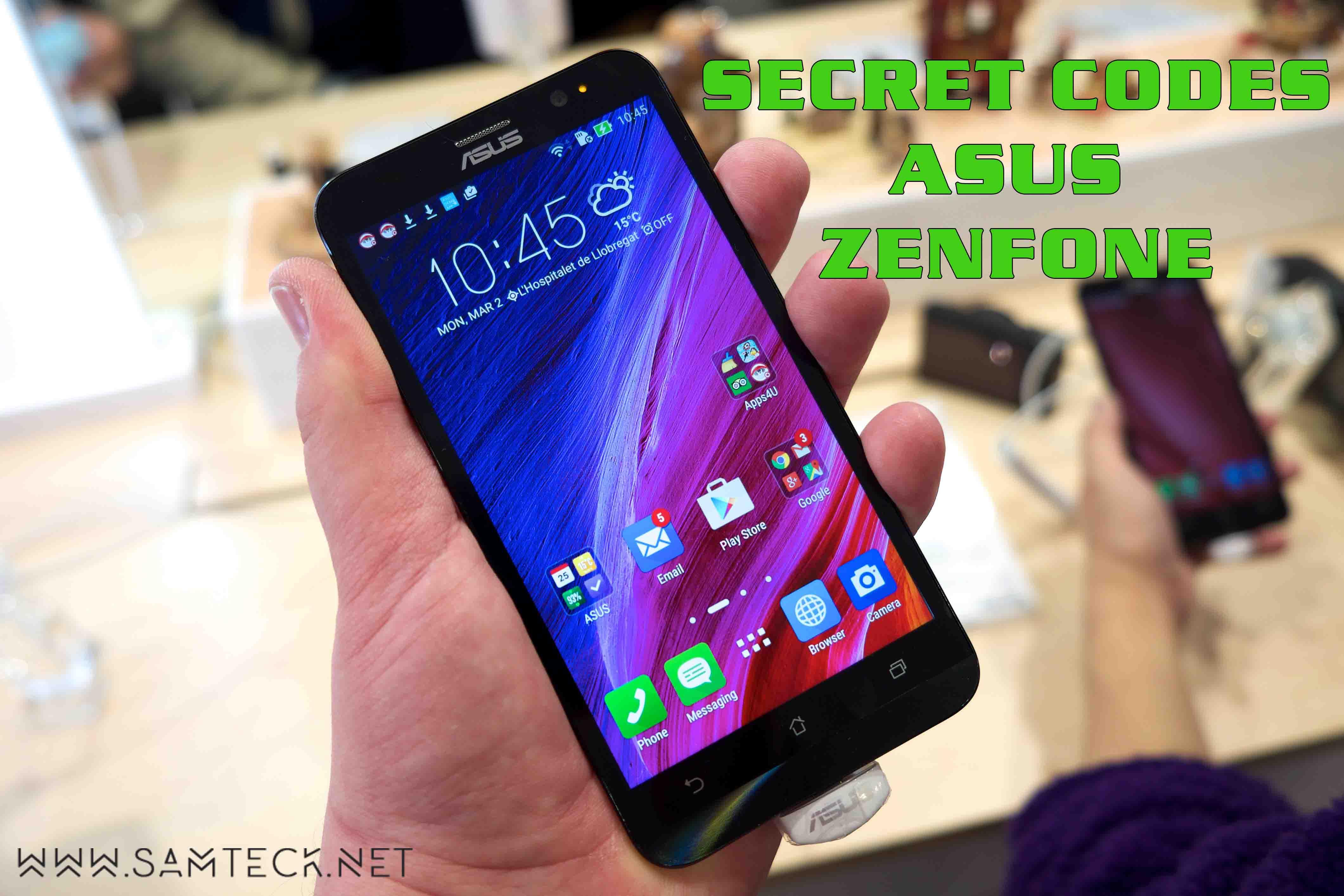 Asus Zenfone 2 Secret Codes and Accessing Hidden Menu