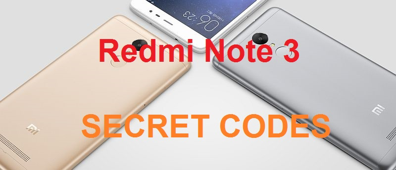xiaomi redmi note 3 secret code