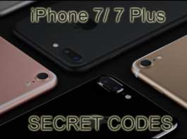 iphone 7 secret codes