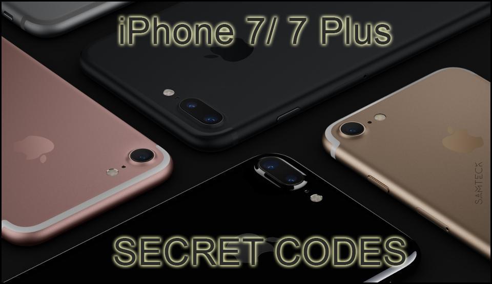 iphone 7 secret codes