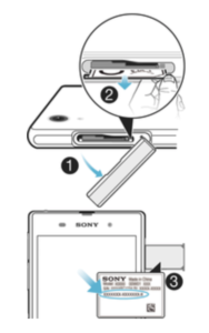 FCC Sticker Sony Xperia
